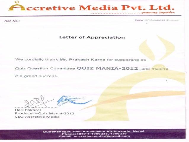 certificates Slide 2