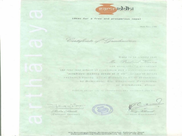 certificates Slide 3