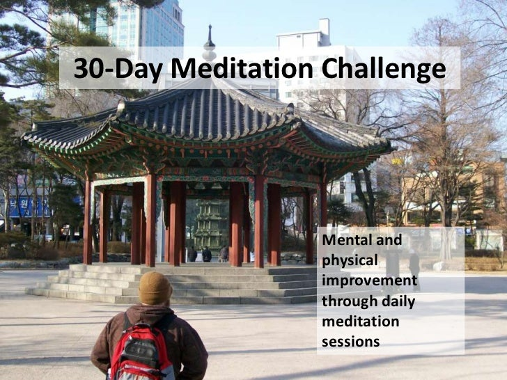 30-Day Meditation Challenge                 Mental and                 physical                 improvement               ...