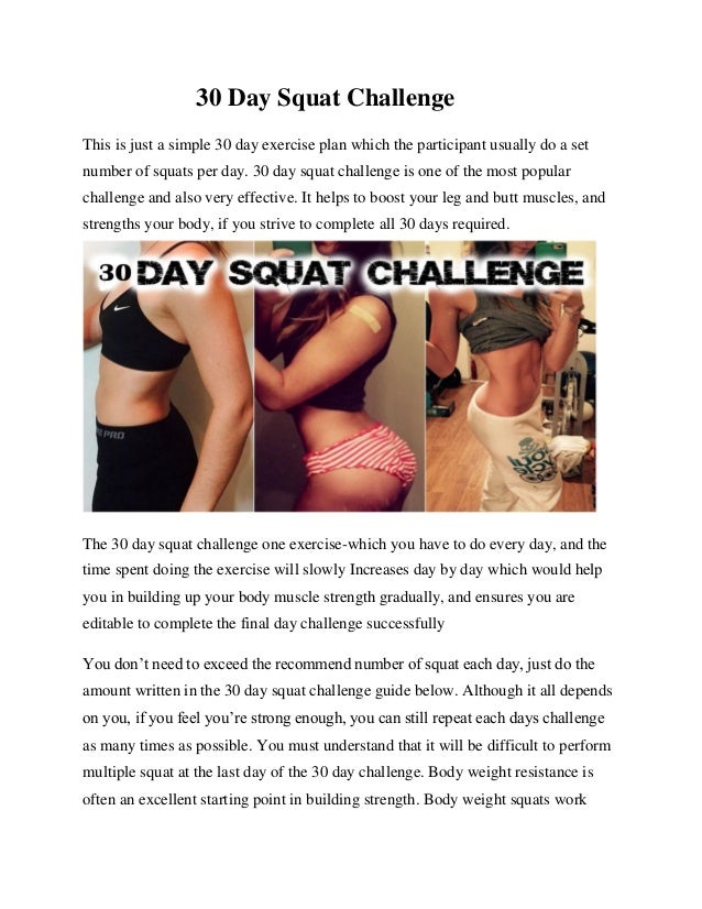 30 Day Squatchallenge For Women