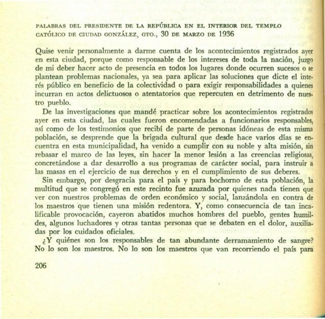 PALABRAS  DEL PRESIDENTE  CATÓLICO  DE CIUDAD GONZÁLEZ,  DE LA REPÚBLICA GTO.,  30  EN  EL INTERIOR  DE MARZO  DE  DEL TEM...