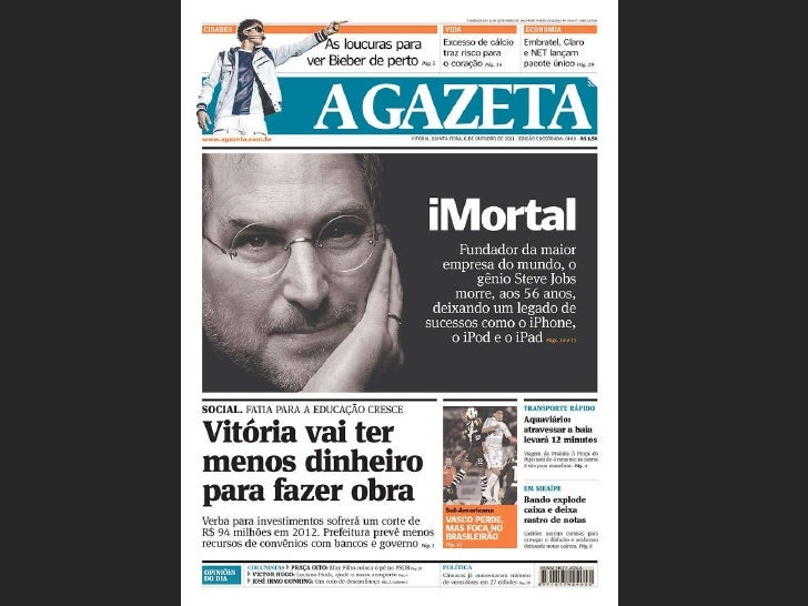 30 Frontpages on Steve Jobs Death