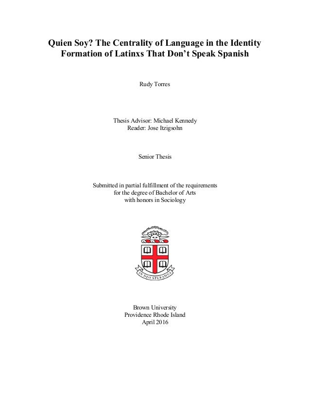 senior thesis in spanish