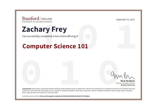 Stanford CS101