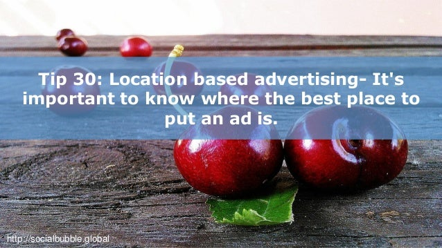 30 easy mobile advertising & marketing tips for food & nutrition industry