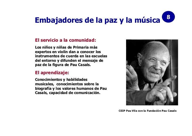 8Embajadores de la paz y la músicaEl servicio a la comunidad:Los niños y niñas de Primaria másexpertos en violín dan a con...