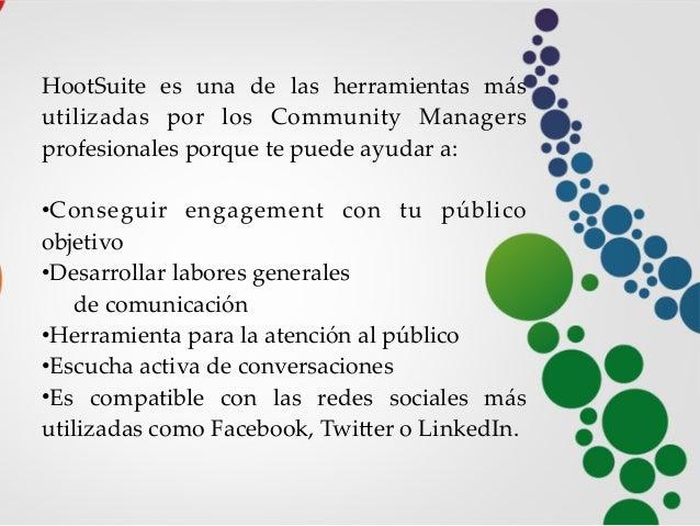 manual básico como usar hootsuite en castellano Slide 2