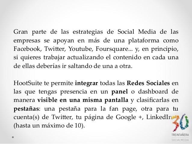 manual básico como usar hootsuite en castellano Slide 3