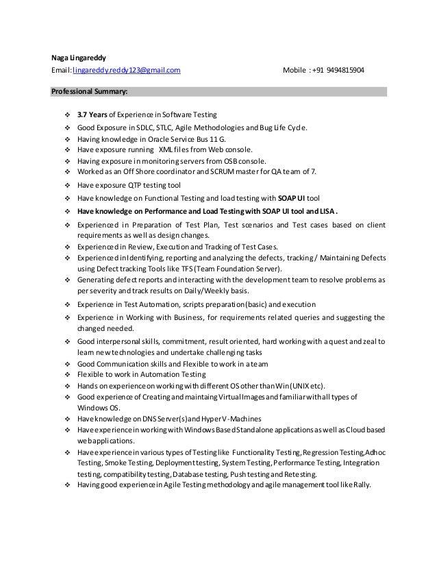 Naga SOA testing Profile