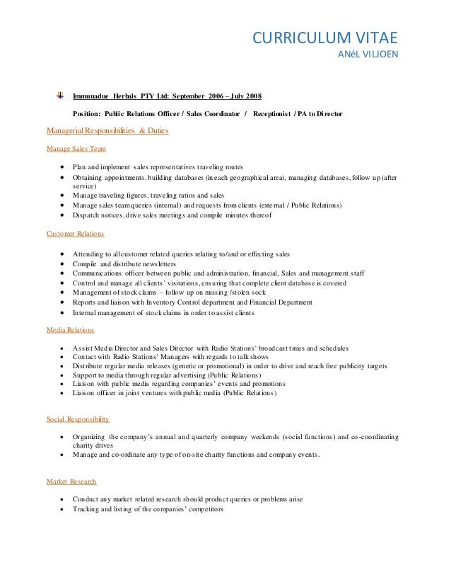 Anel Cv South Africa Experience