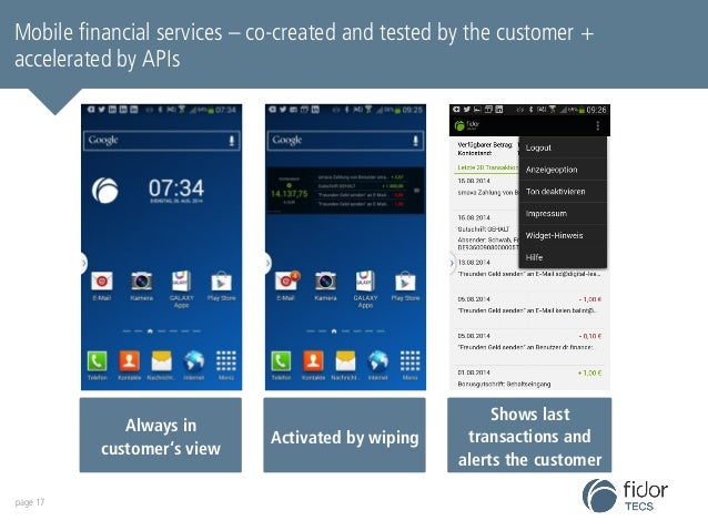 Mobile fidorOS financial is set services up to – become co-created the and tested most by accessible the customer banking ...