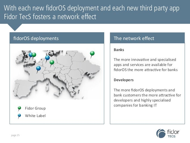 With each new fidorOS deployment and each new third party app  Fidor TecS fosters a network effect  fidorOS  deployments  ...