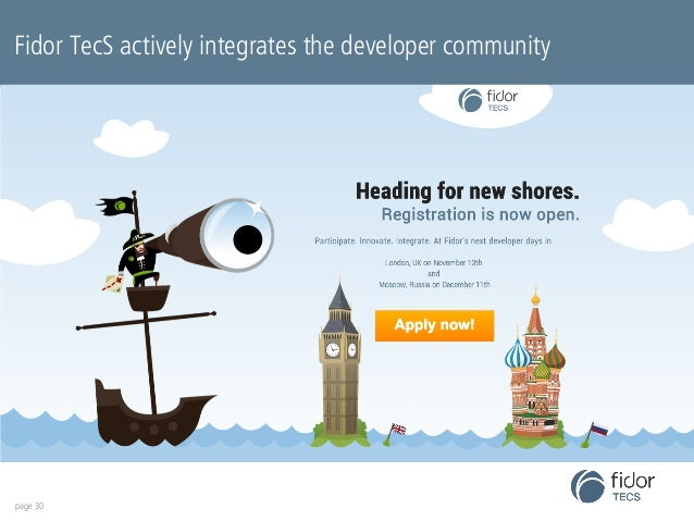 Fidor TecS actively integrates the developer community  page 30
