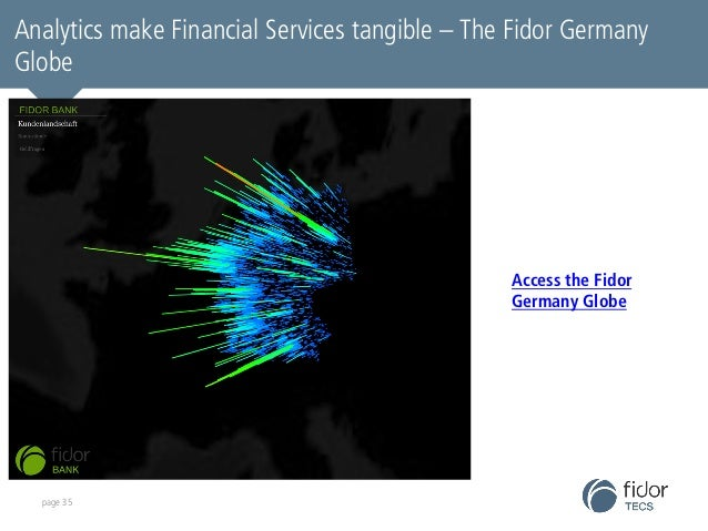 Analytics make Financial Services tangible – The Fidor Germany  Globe  page 35  Access the Fidor  Germany Globe