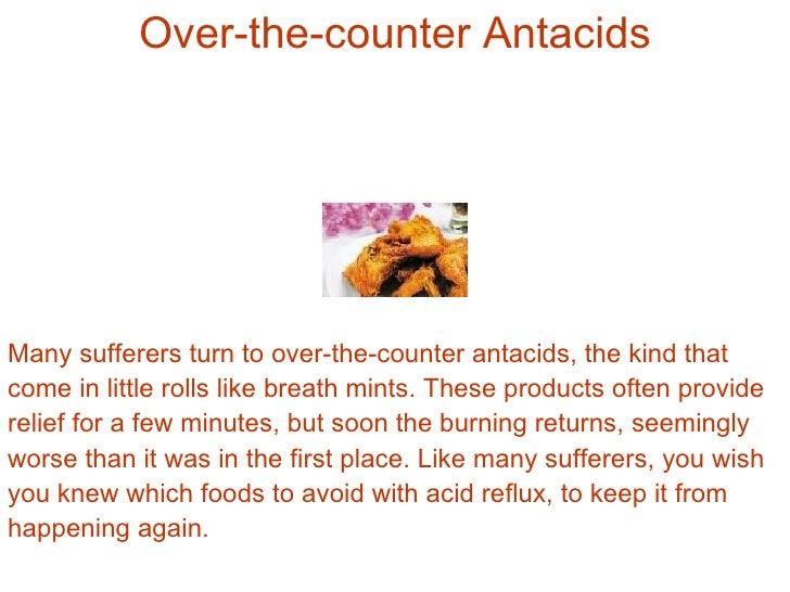 List Acid Reflux Foods To Avoid