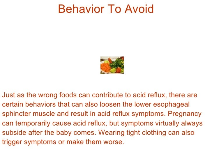 Worst Foods To Eat For Acid Reflux
