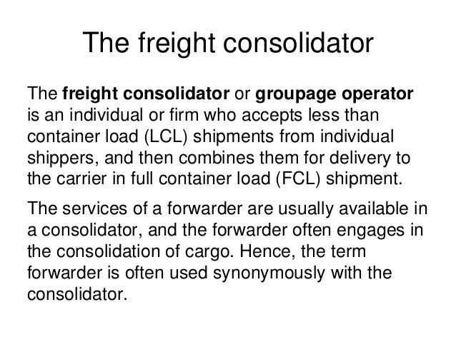 30 freight forwarders, customs brokers and freight