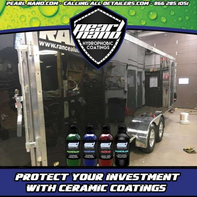 30 ft trailer Got Compounded, Polished and Pearl Nnao Coated Pearl Nano Ceramic Coating by Nick Rolocut at Northern CT Pro...