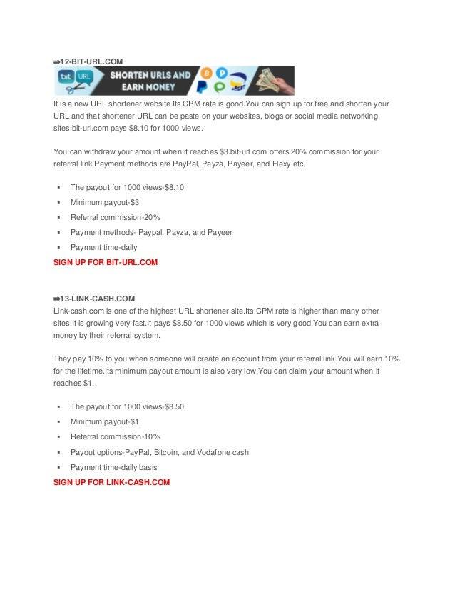 30 highest paying url shortener 2018 best url shortener to earn money