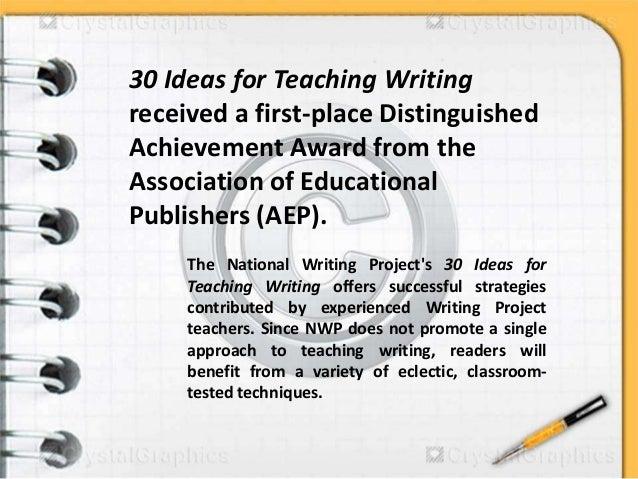 30 ideas for teaching writing Slide 2