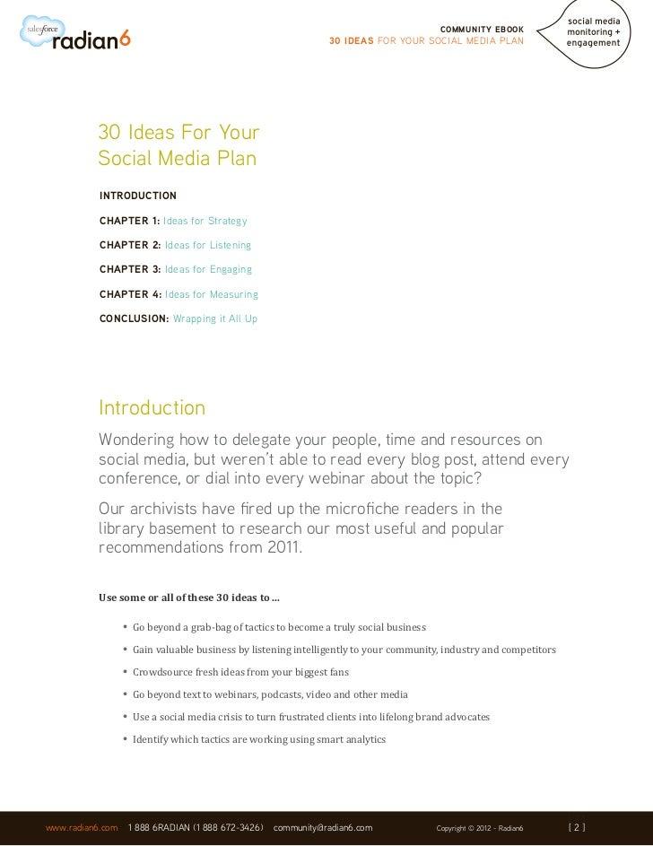 30 Ideas For Your Social Media Plan Slide 2