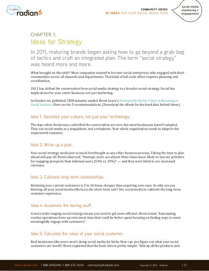 30 Ideas For Your Social Media Plan Slide 3