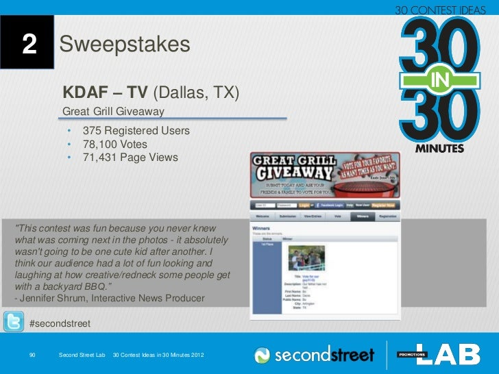 2 Sweepstakes KDAF – TV