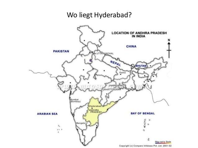 Wo liegt Hyderabad?