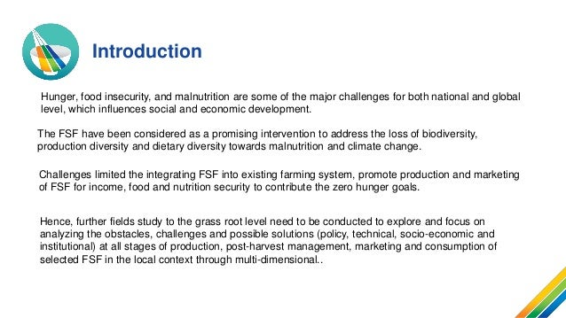 Integrating FSF into Farming Systems and Value Chain Development Promoting Agriculture Diversification: A Case Study at the Provincial Level Slide 2