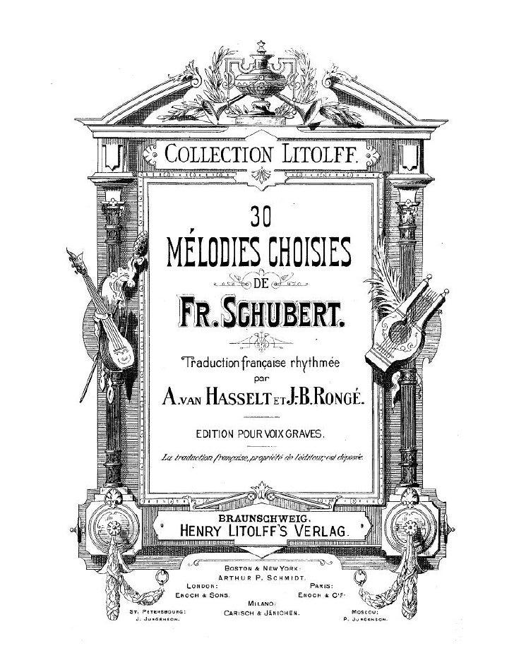 30 Lieder De F. Schubert