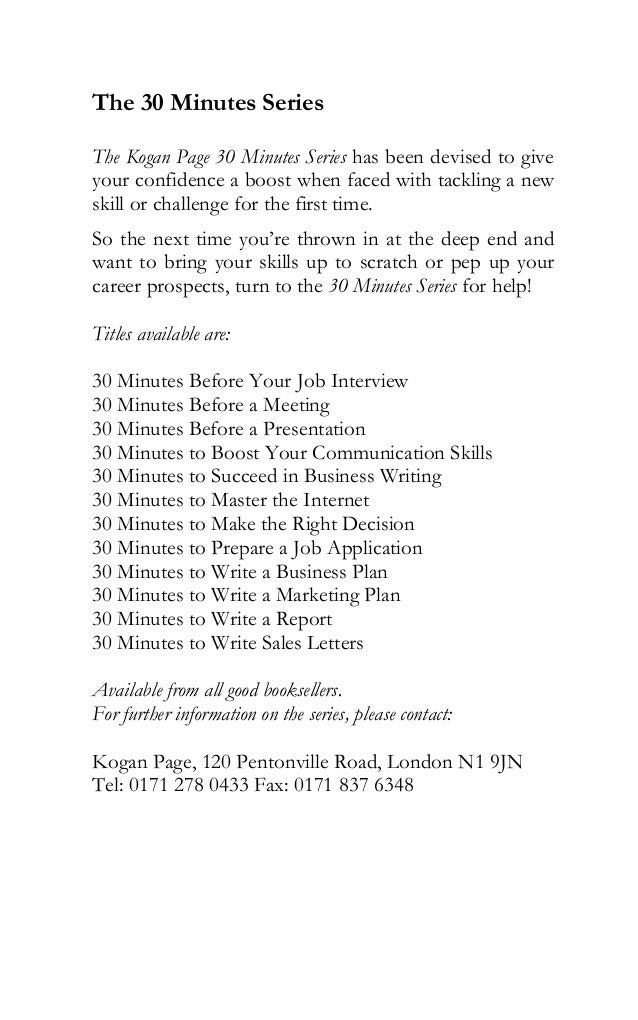 marketing business plan for interview