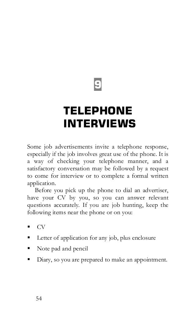 30 minutes before a job interview 55 54 9 telephone interviews some job advertisements invite stopboris Gallery