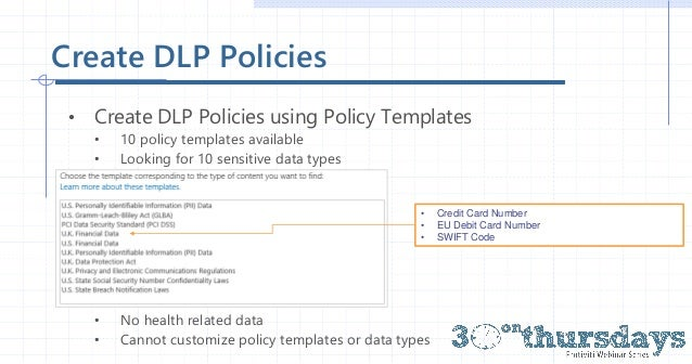 30 on Thursday - data loss prevention in SharePoint 2016 - protect yo…