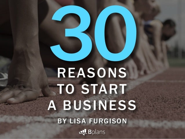 REASONS TO START A BUSINESS BY LISA FURGISON 30