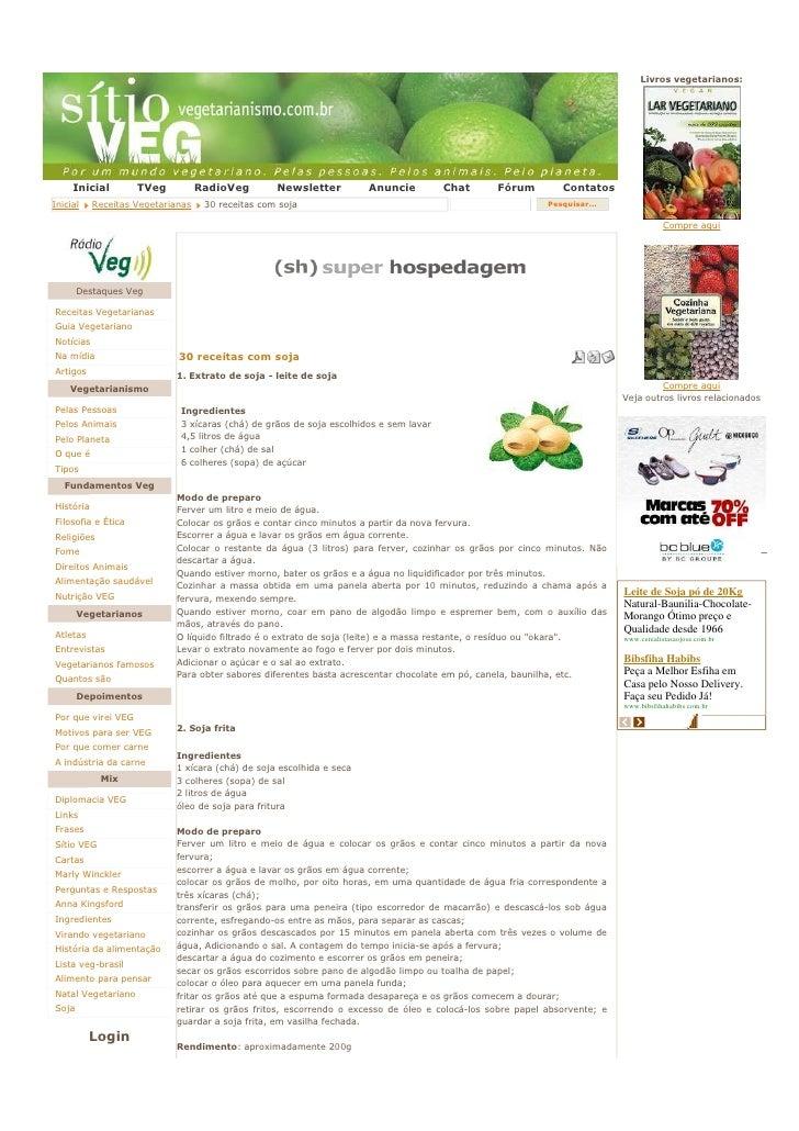 Livros vegetarianos:          Inicial        TVeg           RadioVeg        Newsletter         Anuncie          Chat     F...