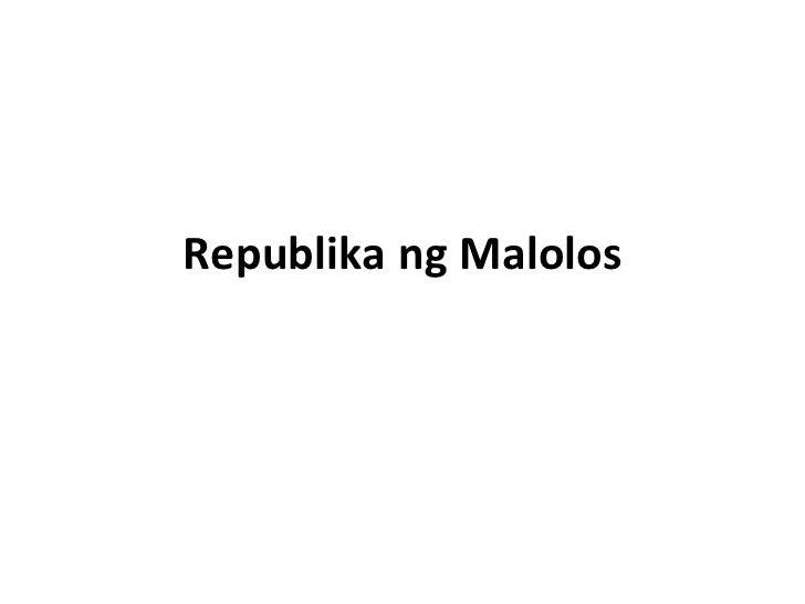 Republika ng Malolos