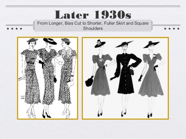 30s and 40s fashion