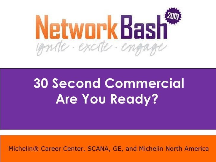 Michelin® Career Center, SCANA, GE, and Michelin North America 30 Second Commercial Are You Ready?