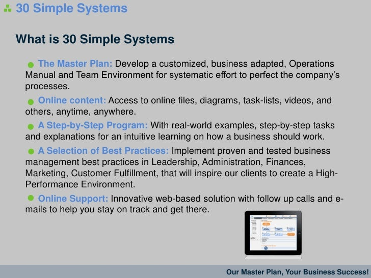 workman success systems business plan