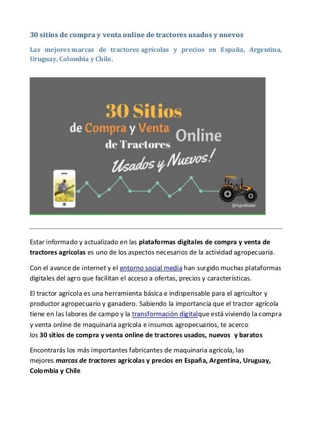 30 sitios de compra y venta online de tractores usados y nuevos Las mejores marcas de tractores agrícolas y precios en Esp...