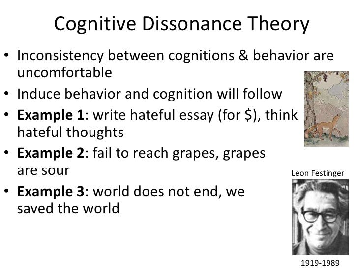 the validity of cognitive dissonance theory essay Read this essay on cognitive theory the theory of cognitive dissonance proposes that people and relational factors to deliver foundation validity for.