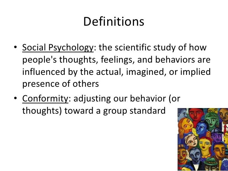 social psychology definition This sounds an awful lot like social psychology is the major distinction between  the two that the emphasis of symbolic interactionism is to better understand.
