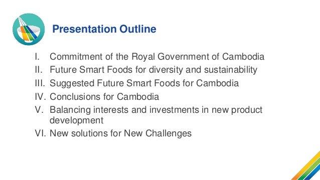 Future Smart Foods for Cambodia: Harnessing the Potentials of Future Smart Foods for Zero Hunger in Cambodia Slide 2