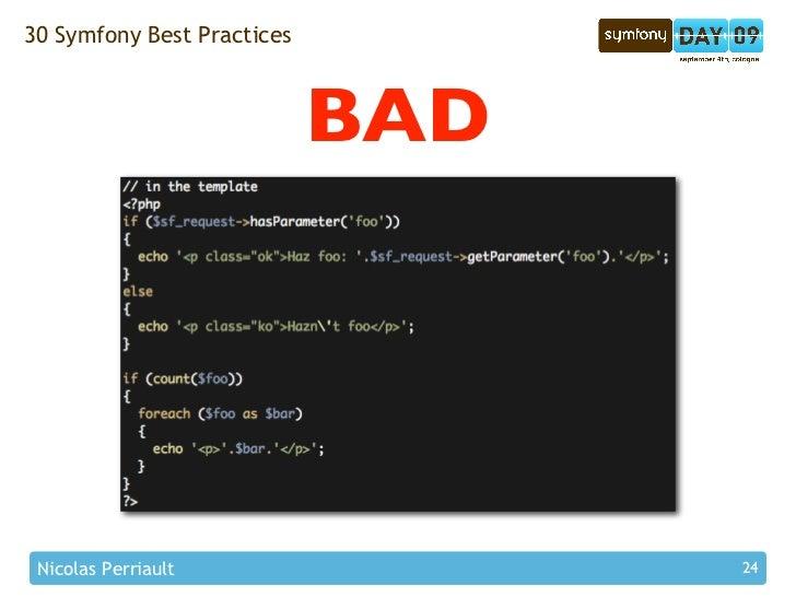 30 Symfony Best Practices                                BAD      Nicolas Perriault                24