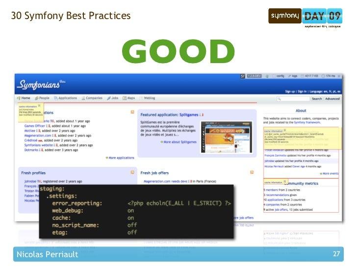 30 Symfony Best Practices                          GOOD      Nicolas Perriault           27