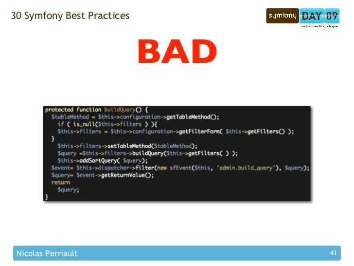 30 Symfony Best Practices                                BAD      Nicolas Perriault                41