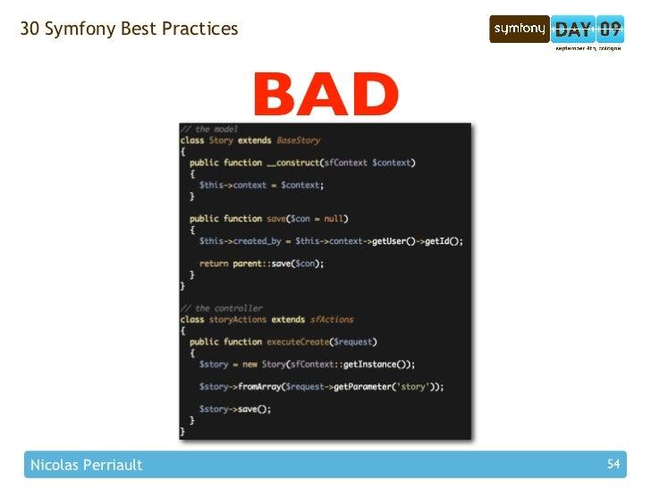 30 Symfony Best Practices                                BAD      Nicolas Perriault                54