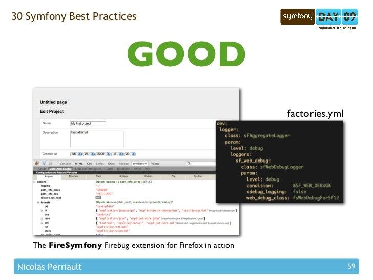 30 Symfony Best Practices                                  GOOD                                                           ...