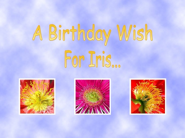 A Birthday Wish For Iris...