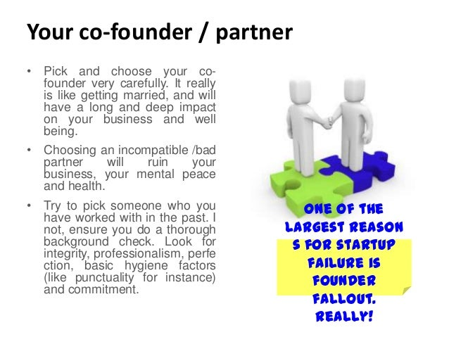 Image result for Carefully pick your co-founder